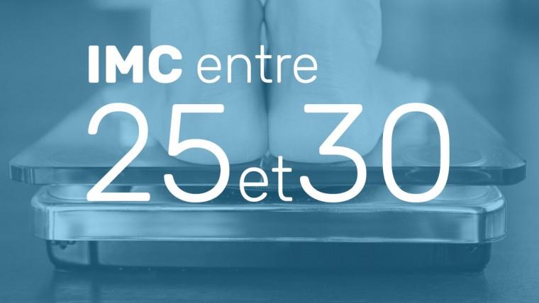 IMC entre 25 et 30